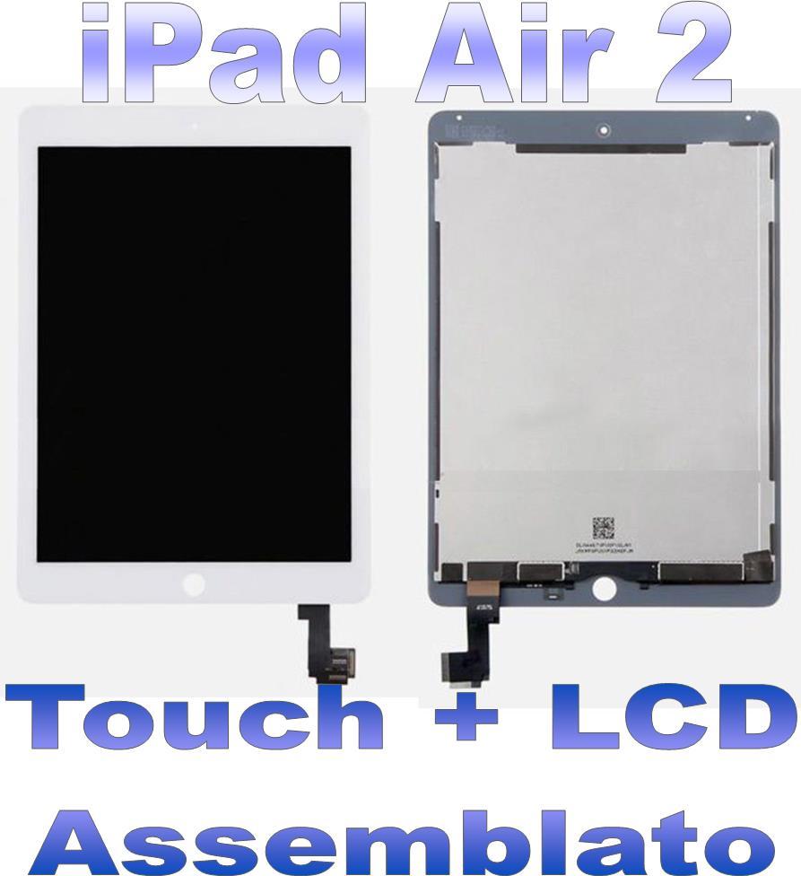 LCD + Touch Assemblato per iPad 2 Air Bianco Grado A+ A1566