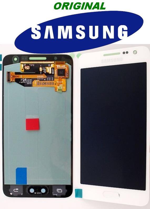 LCD + TOUCH ORIGINALE PER GALAXY A5 BIANCO GH97-16679A