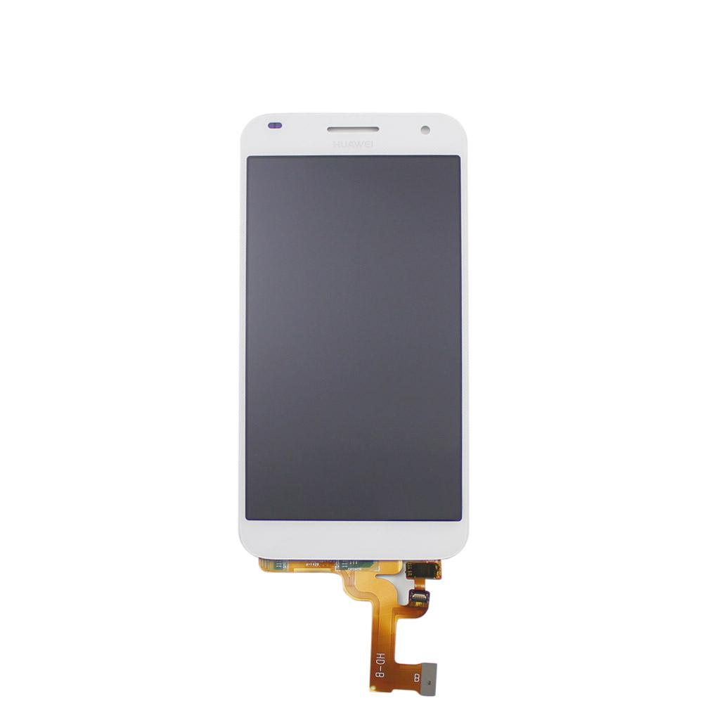 LCD + Touch senza Frame per Huawei G7 G7-L01 G7-L03 Bianco