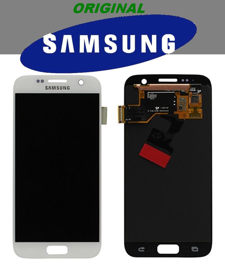 LCD + TOUCH PER GALAXY S7 ORIGINALE BIANCO GH9718523D