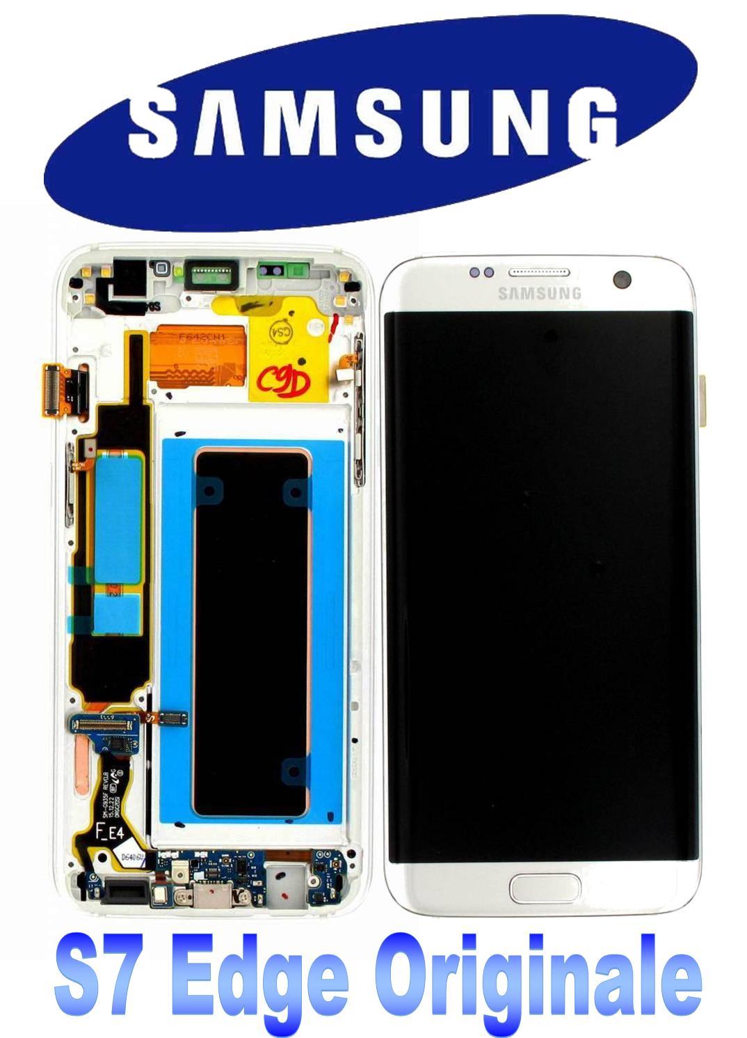 LCD + TOUCH PER GALAXY S7 EDGE ORIGINALE SILVER GH97-18533B
