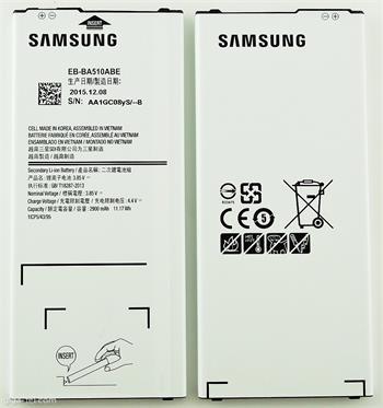 EB-BA510ABE A510 Samsung Batteria A5 2016 Originale 2900mAh