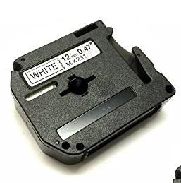 Laminato Black-White 12mmX8m Brother label#MK-231SBZ