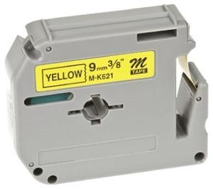 Laminato Black-Yellow 9mmX8m Brother label#MK-621BZ