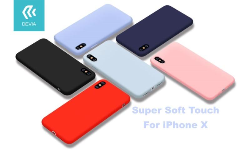 Custodia protettiva per iPhone X in silicone Nera