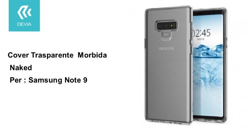 Custodia protettiva morbida per Samsung Note 9 trasparente