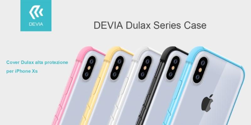 Cover Dulax alta protezione per iPhone Xs 5.8 Bianca