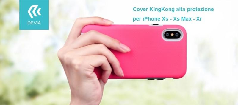 Cover KinKong alta protezione per iPhone Xr 6.1 Nero
