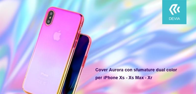 Cover Aurora dual color Viola e Rosa per iPhone Xs Max 6.5