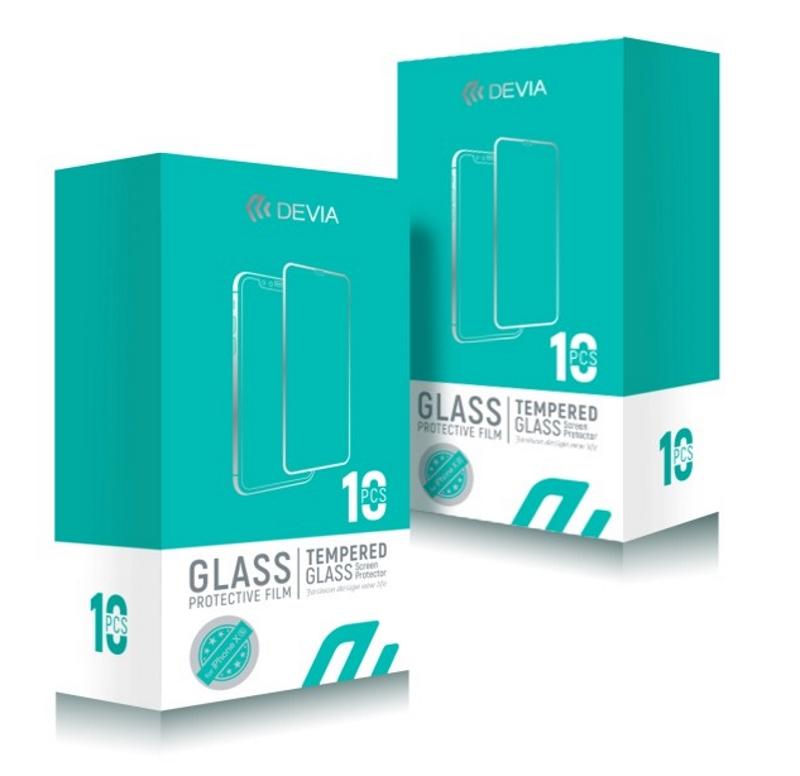 BOX 10 PELLICOLE VETRO TEMPERATO FULL SCREEN PER IPHONE XR