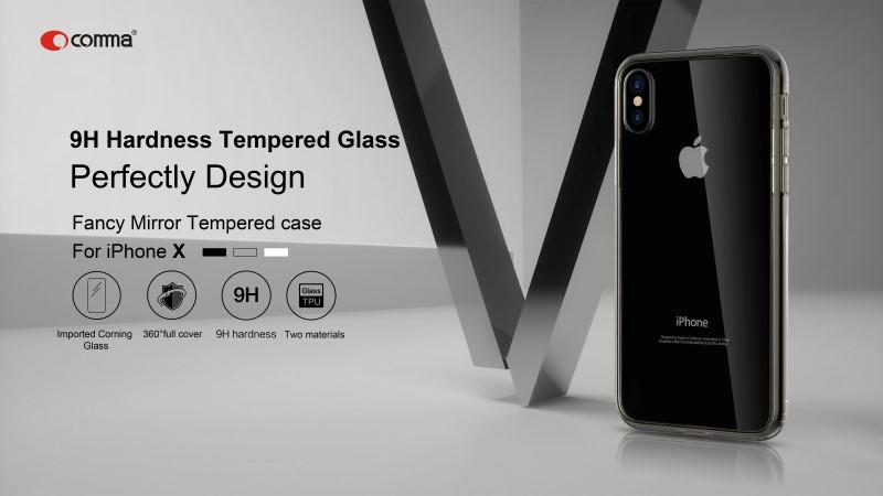 Cover protezione con Vetro Temperato per iPhone X & Xs