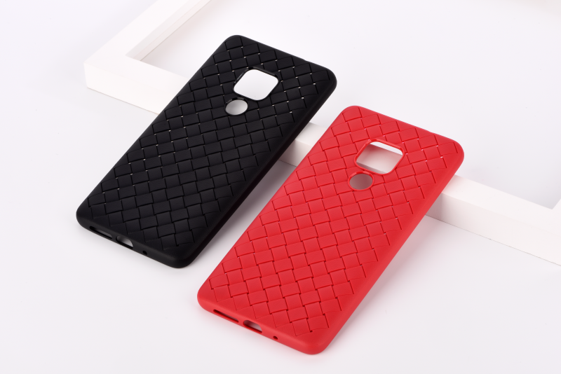 Custodia protettiva Woven Pattern per Huawei Mate 20 Nera