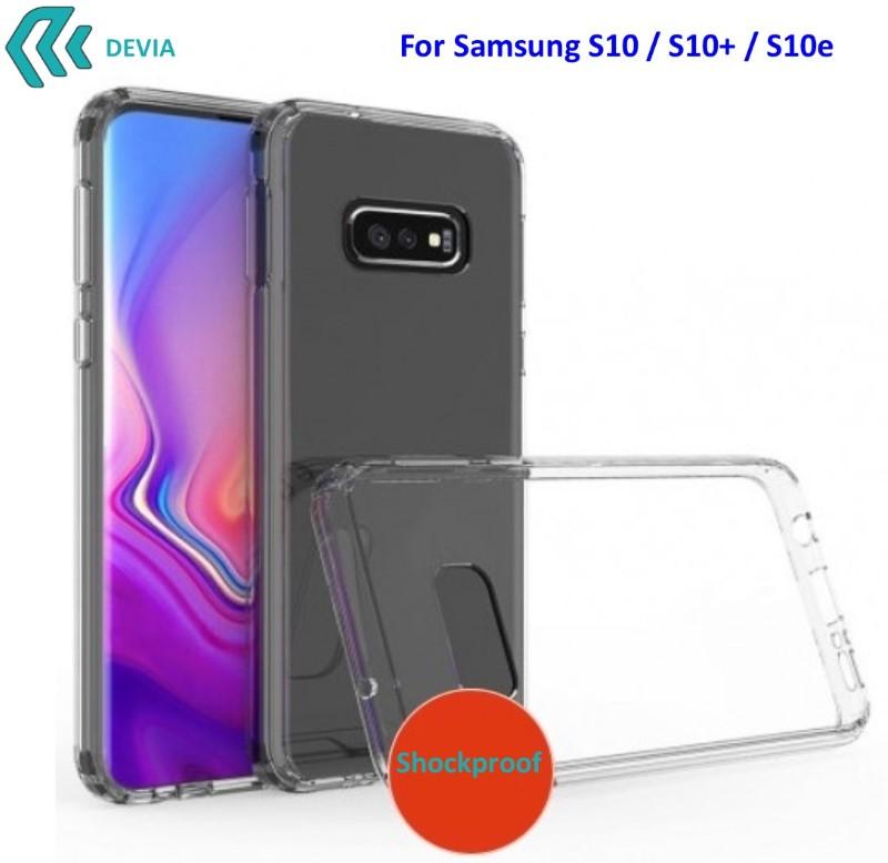 Cover Alta Protezione per Samsung S10+ in TPU Trasparente