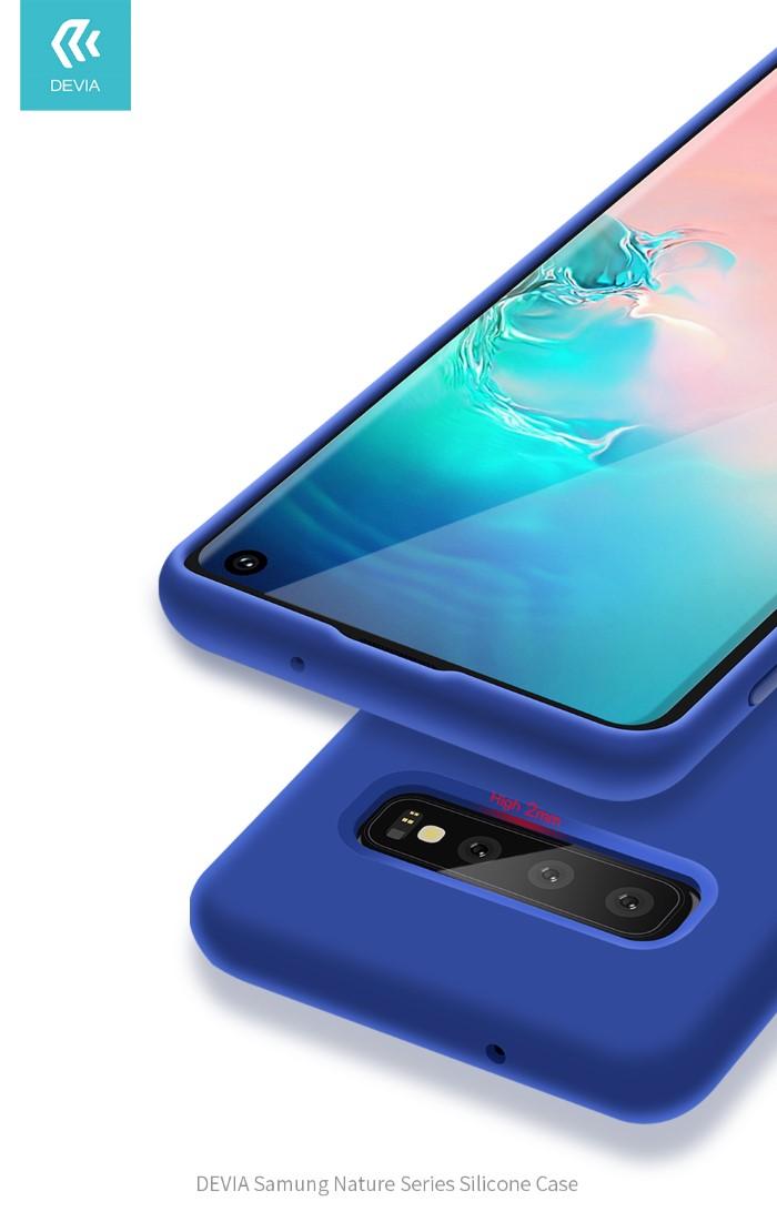 Cover Protezione per Samsung S10+ in Silicone Morbido Viola