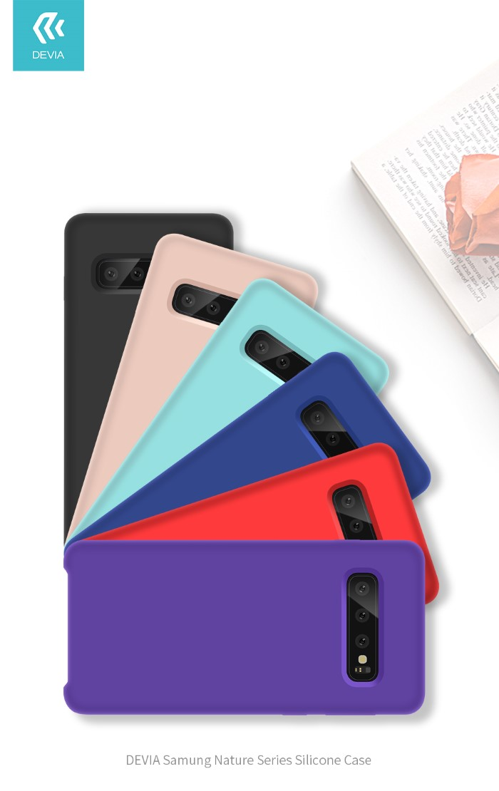 Cover Protezione per Samsung S10 in Silicone Morbido Rossa