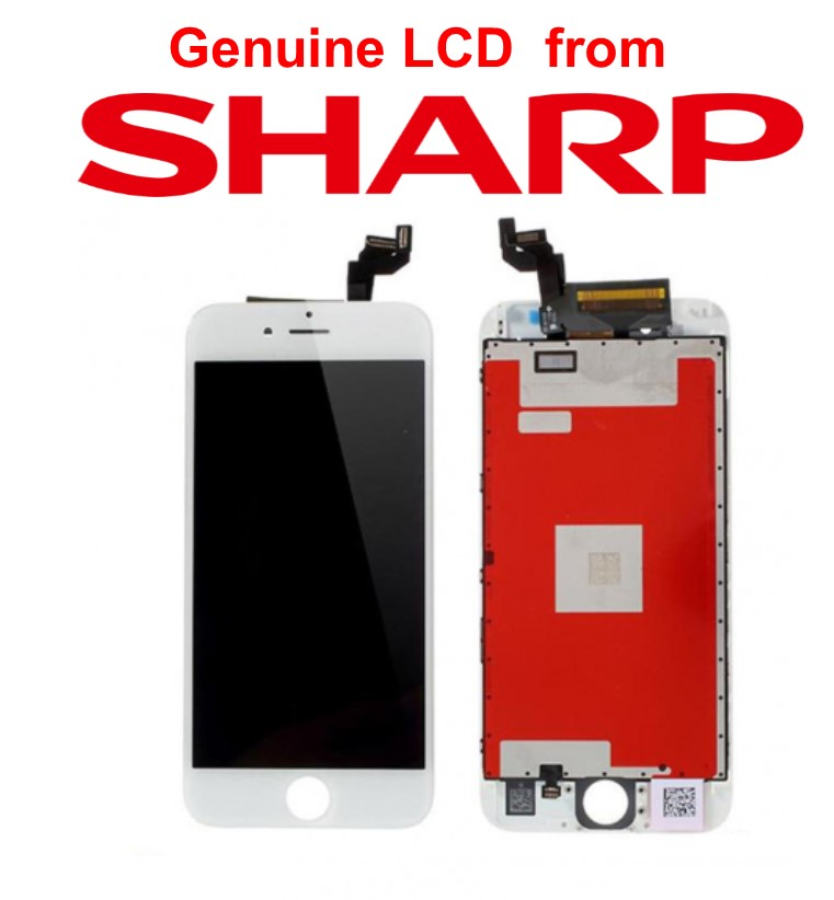Lcd per iPhone 6S Plus Matrice Sharp alta qualità Bianco