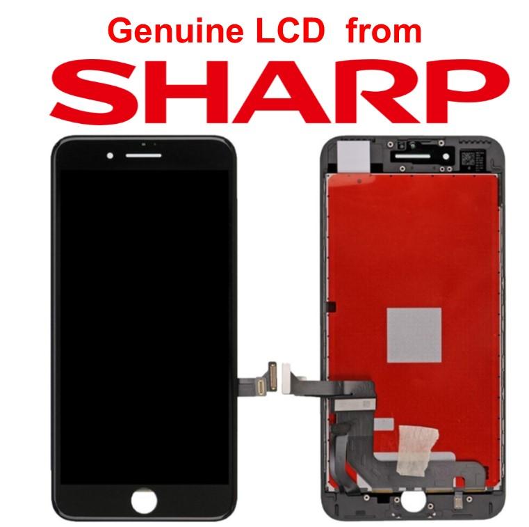 Lcd per iPhone 7 Plus Matrice Sharp alta qualità Nero