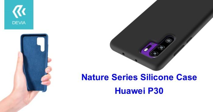 Cover Nature in Silicone per Huawei P30 flessibile Nera