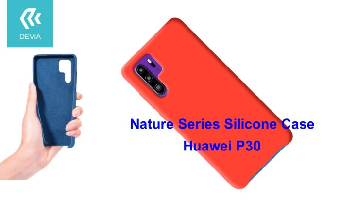 Cover Nature in Silicone per Huawei P30 flessibile Rossa