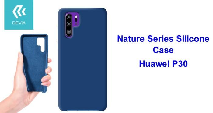 Cover Nature in Silicone per Huawei P30 flessibile Blu