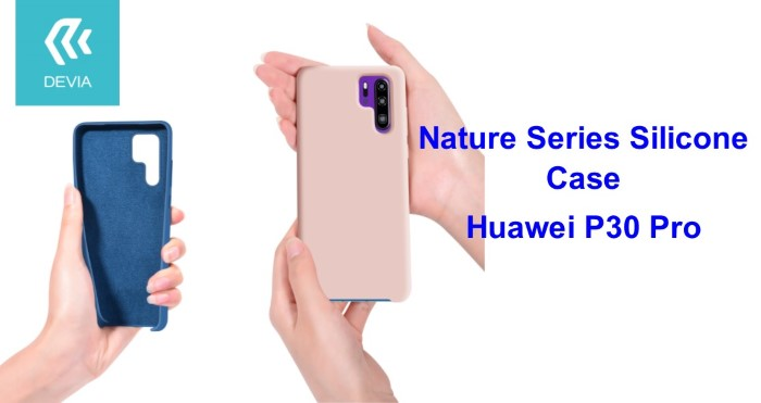 Cover Nature in Silicone per Huawei P30 Pro flessibile Rosa