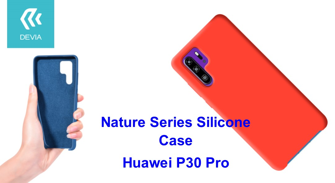 Cover Nature in Silicone per Huawei P30 Pro flessibile Rossa