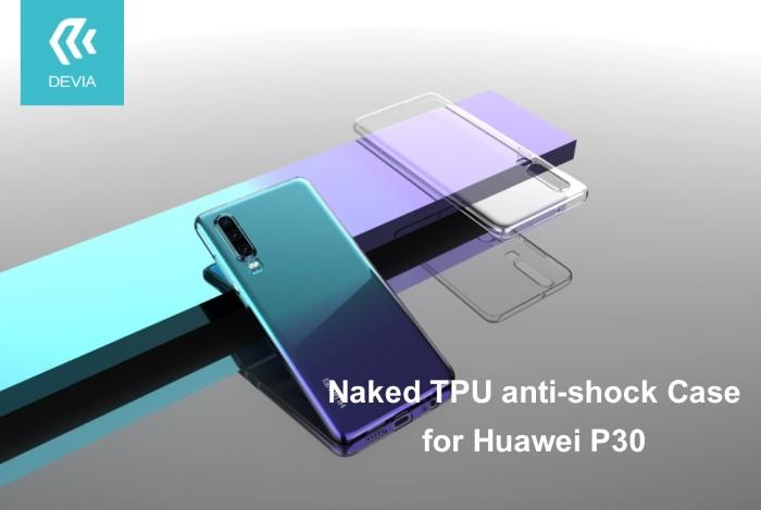 Cover in TPU Alta protezione per Huawei P30 Trasparente