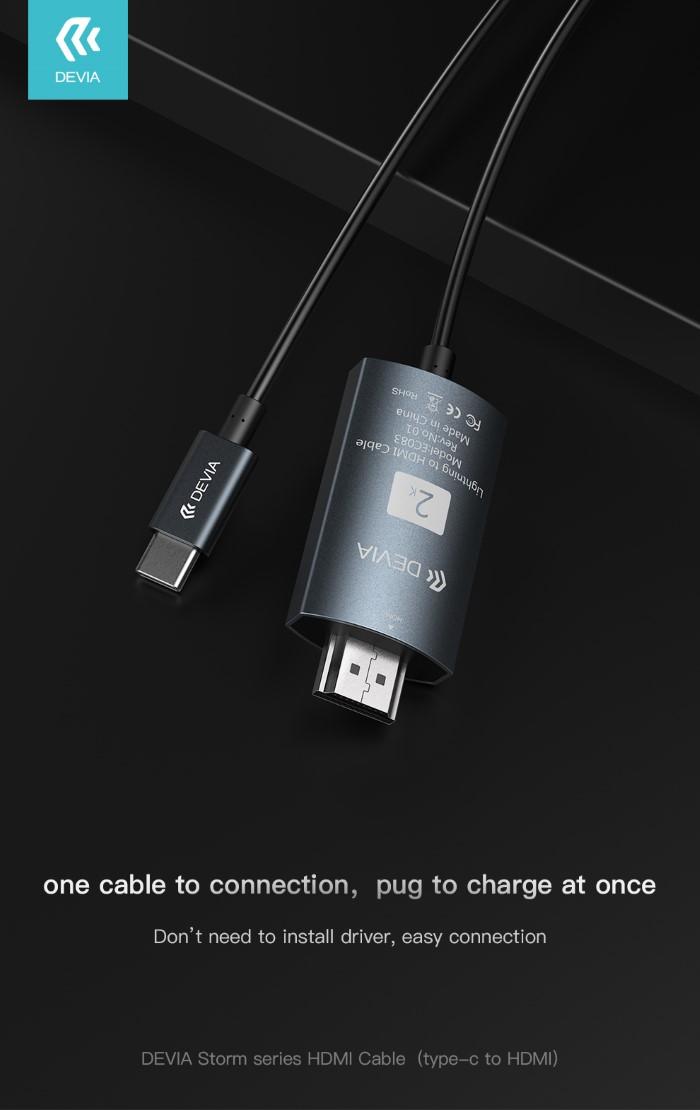 Cavo Adattatore Serie Storm da HDMI a Tipo-C Nero