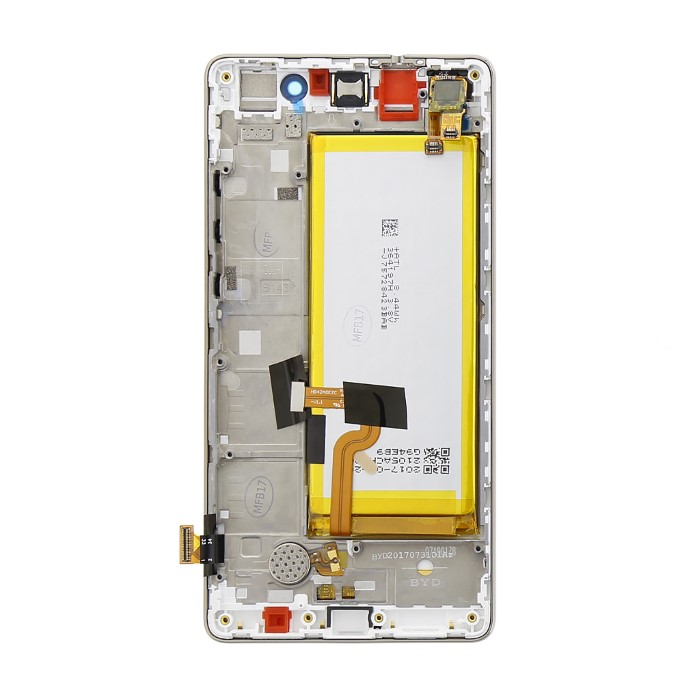 Huawei P8 Lite LCD Display Service Pack 02350KCD Bianco