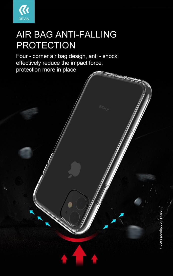 Cover Alta Protezione Tpu Trasparente per iPhone 11 Pro Max