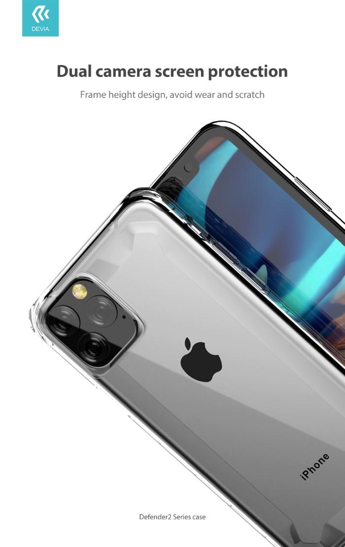 Cover Defender2 Alta Protezione Trasparente iPhone 11Pro Max