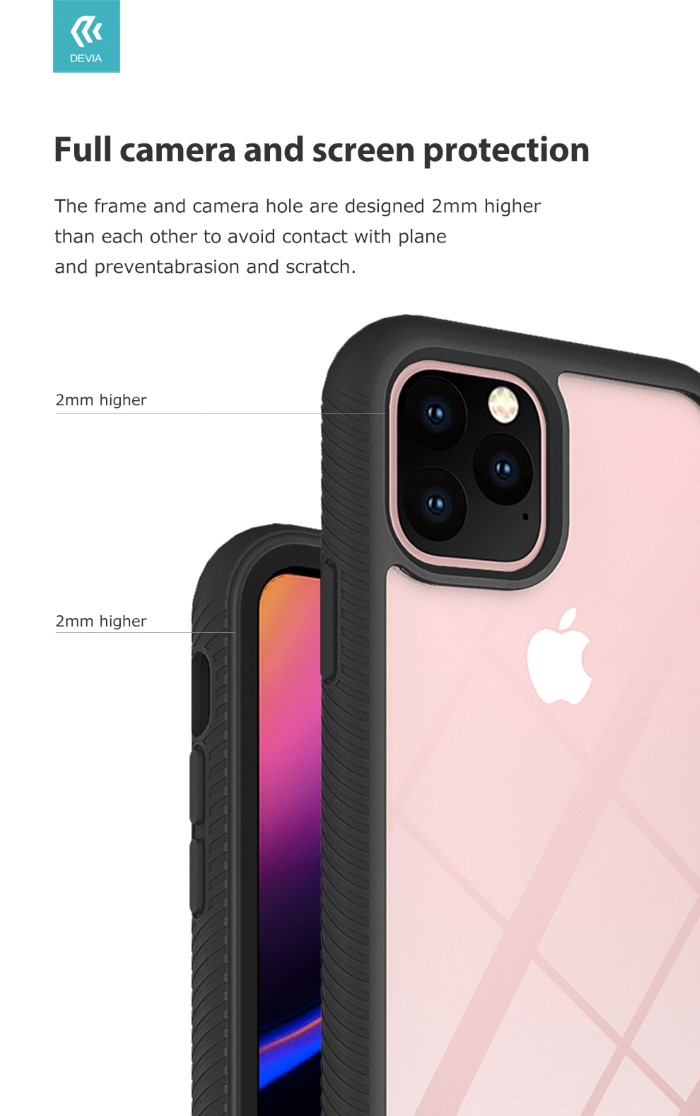 Cover Componibile e protezione camera per iPhone 11 Pro Nera