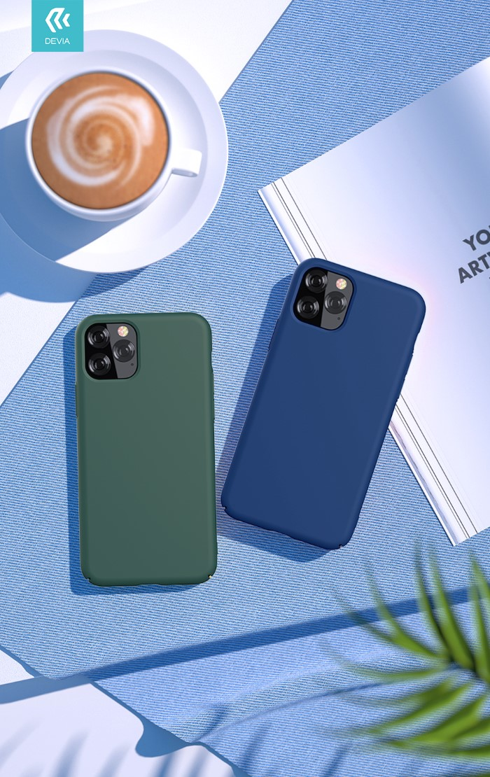 Cover Silicone protezione camera e iPhone 11 Pro Max Blu
