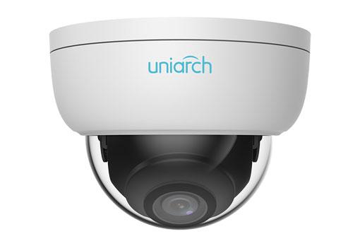 3MP Uniarch Minidome IPCamera, Ottica 4.0mm Ultra265, Ik10