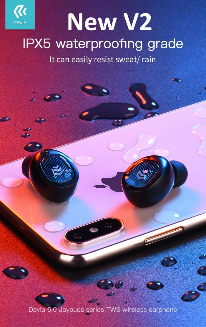 Auricolari JoyPods V2 Wireless Bluetooth 5.0 Stereo TWS Nero