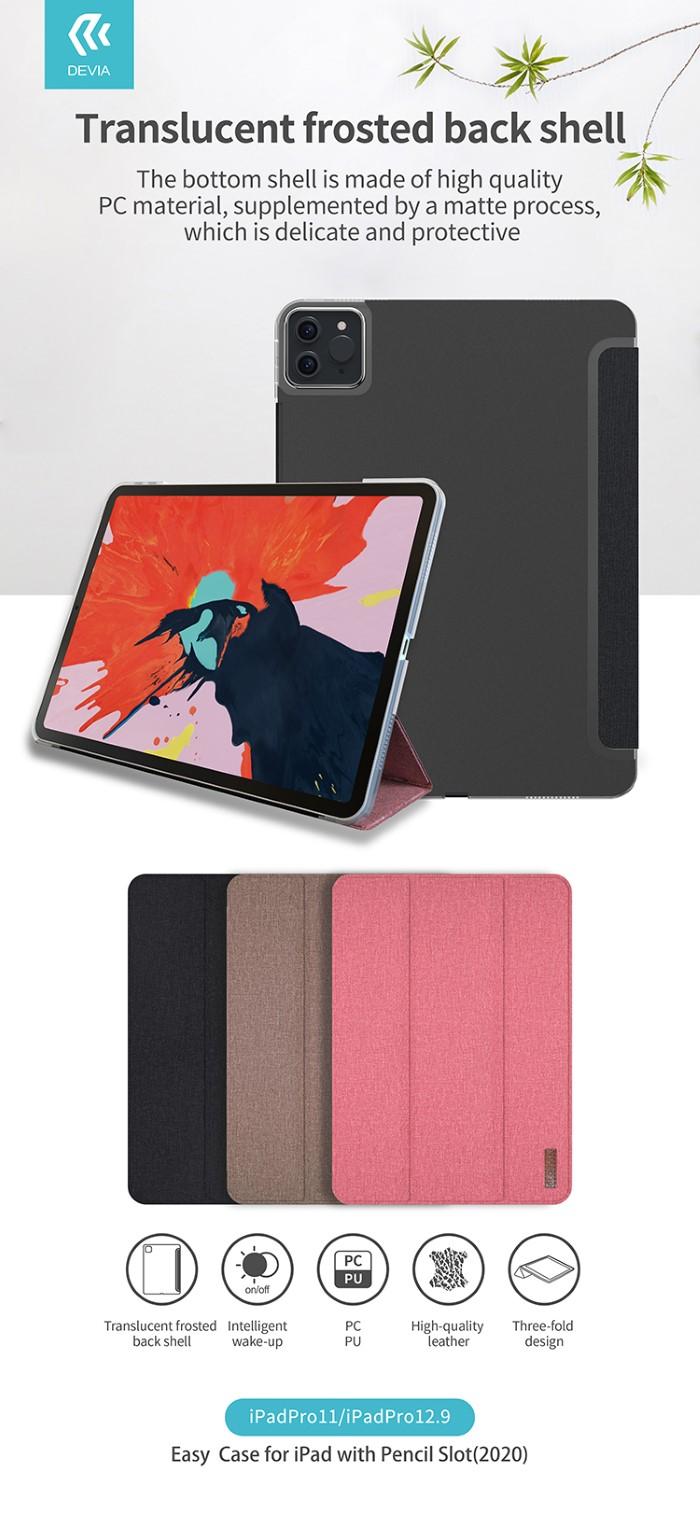 Cover in TPU con supporto pencil iPad 12.9 Pro 2020 Nera