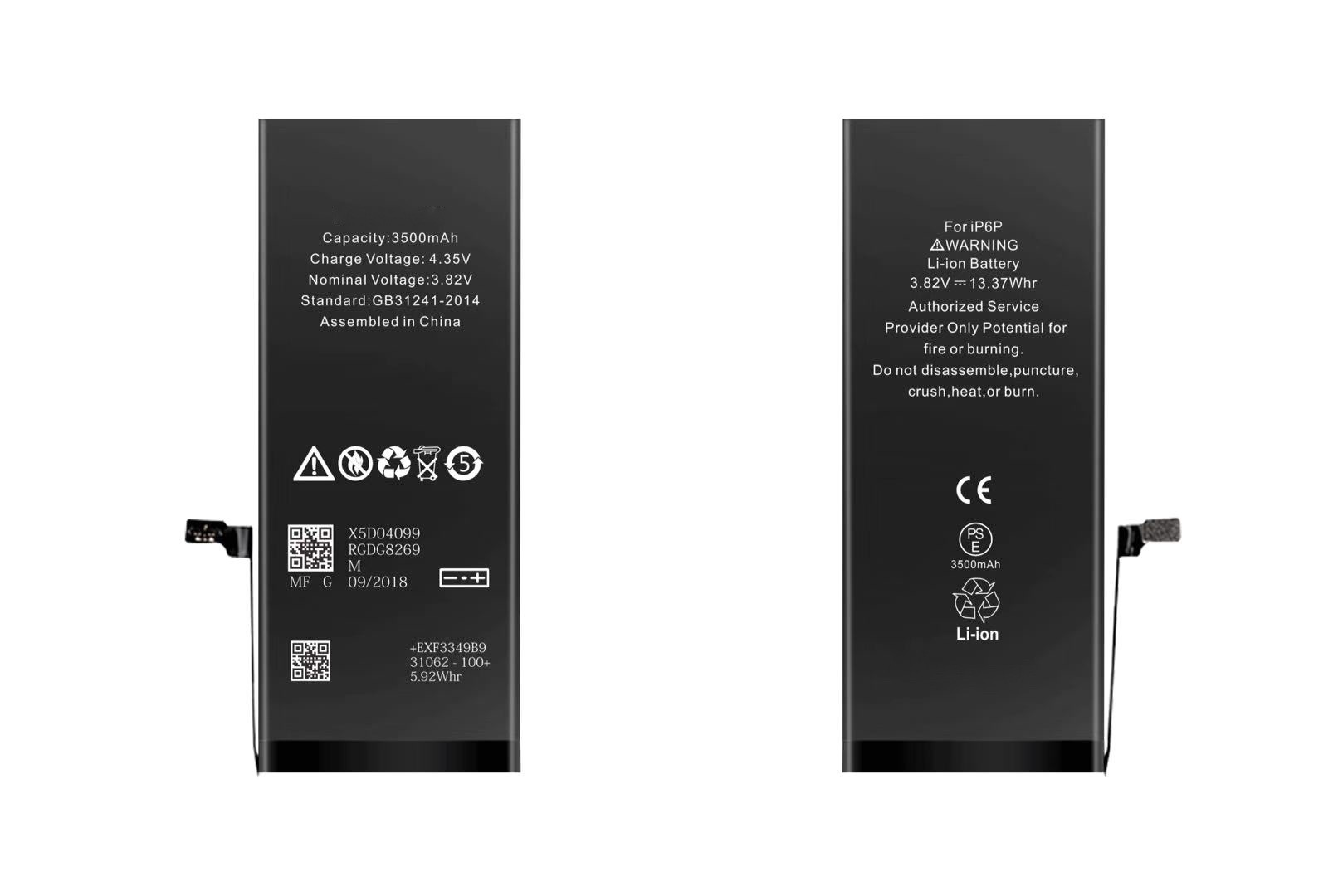 Batteria per iPhone 6 PLUS, 3500mAh, High Capacity