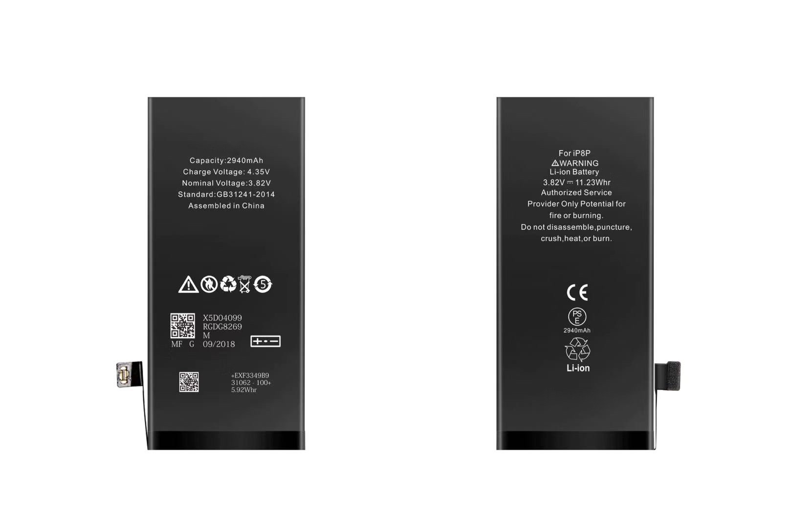 Batteria per iPhone 8 PLUS, 2990mAh, High Capacity